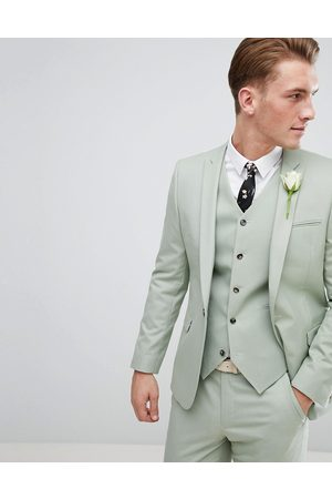 ASOS ASOS Wedding Skinny Suit Jacket In Sage