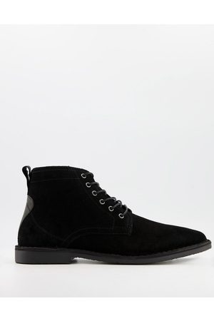 ASOS Desert boots in suede with leather detail