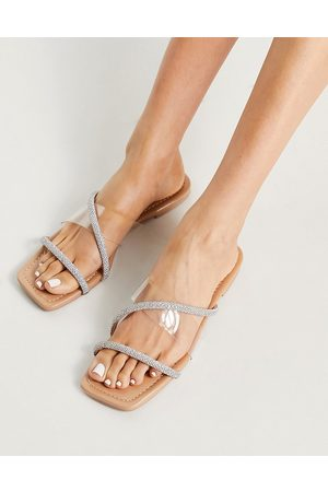 SIMMI Shoes Simmi London Cody embellished slide sandals in -Neutral