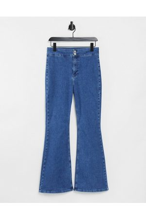 Topshop One oversized mom jean in mid wash blue-Blues