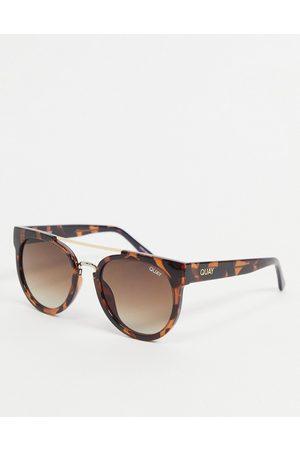 Quay Australia Quay Odin women's round sunglasses in tortoiseshell
