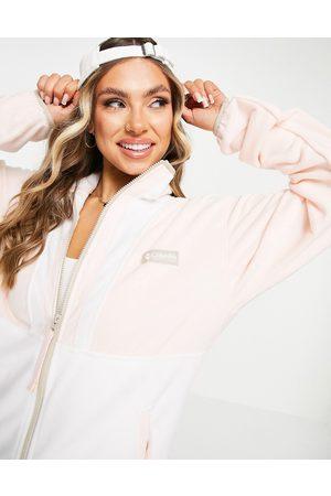 Columbia Back Bowl Lightweight full zip fleece in pink/