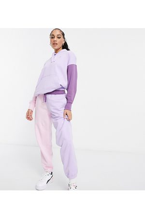 PUMA Downtown color-block sweatpants in lilac and pink - Exclusive to ASOS