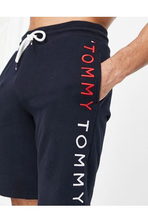Tommy Hilfiger Lounge shorts with side logo in navy