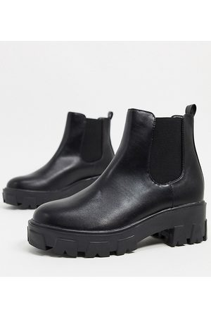 Raid Wide Fit Liza chunky chelsea boots in