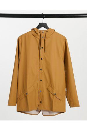 Rains Short waterproof jacket in khaki