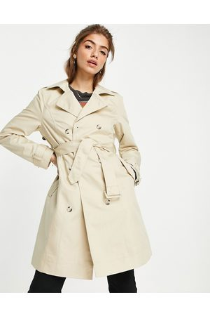Miss Selfridge Trench coat in stone-Neutral