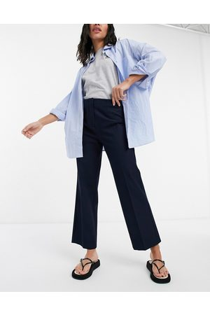 SELECTED Femme wide leg pant in navy