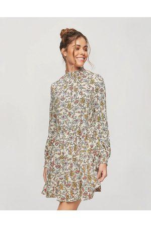 Miss Selfridge Shirred smock dress in flirty floral