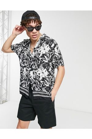 River Island Short sleeve floral shirt in