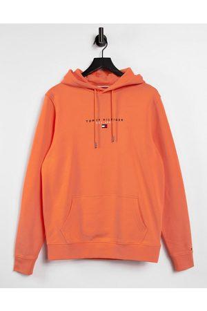 Tommy Hilfiger Chest flag logo essential hoodie in summer sunset