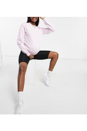 Pieces Maternity Sweatshirt with deep waistband in lilac