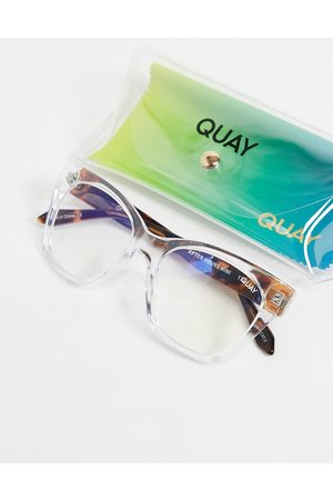 Quay Australia Quay After Hours mini womens blue light sunglasses in clear