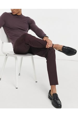 SELECTED Suit pant in slim fit burgundy
