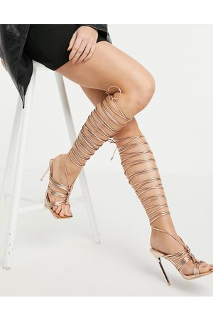SIMMI Shoes Simmi London Chanelle thigh high sandals in rose