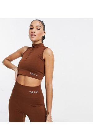 Tala Zahara medium support sports bra with half zip in - exclusive to ASOS