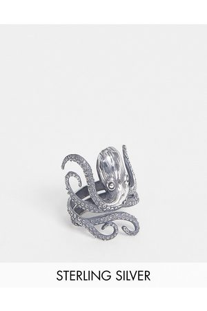 ASOS Sterling ring with octopus design in burnished