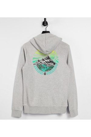 Element Balmore hoodie in Exclusive at ASOS-Grey