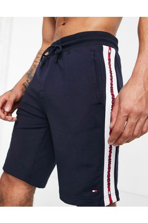 Tommy Hilfiger Lounge shorts with side logo taping in navy