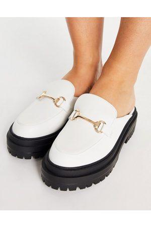 Raid Sadie chunky backless loafers in