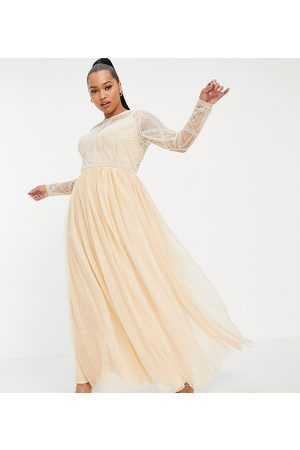 ASOS ASOS DESIGN Curve embellished bodice maxi dress with tulle skirt