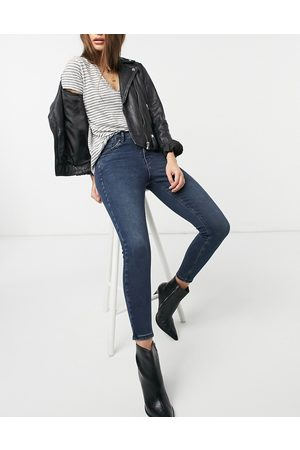 Topshop Women High Waisted - Jamie skinny jeans in blue