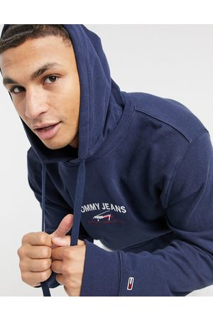Tommy Hilfiger Timeless central logo hoodie in twilight navy