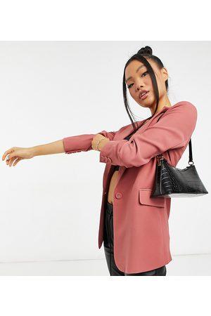 Y.A.S Coordinated longline suit blazer in dark pink