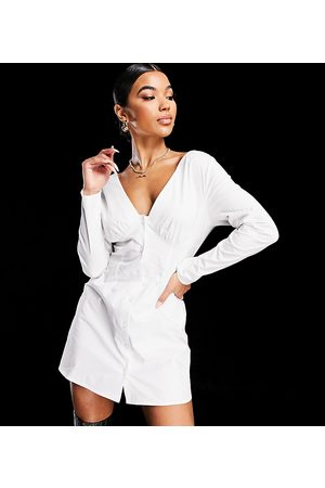AsYou Button down off shoulder dress in