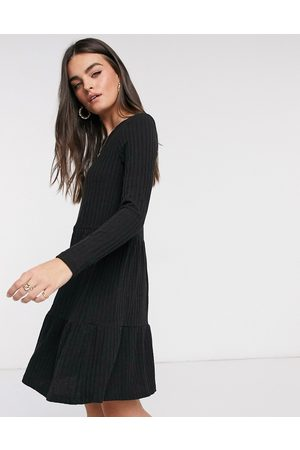 VILA Ribbed mini smock dress in