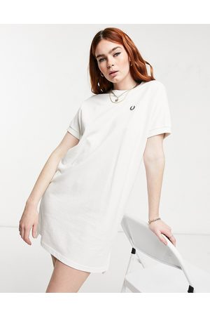 Fred Perry Boxy pique tshirt dress in