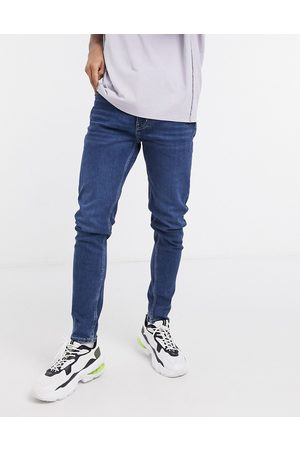 Weekday Cone tapered jeans in sway blue wash-Blues