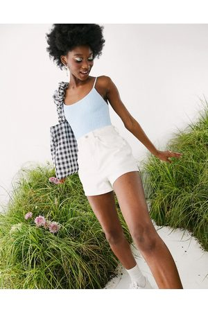 ASOS Denim high rise 80s mom shorts in