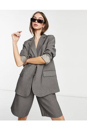 Y.A.S Tailored blazer in dark - part of a set-Grey