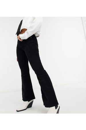 Topshop Women Flares - Petite Jamie flared cord jeans in
