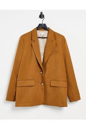 Topshop Oversized blazer in camel-Tan