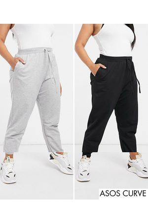 ASOS ASOS DESIGN Curve basic sweatpants with drawstring 2-pack