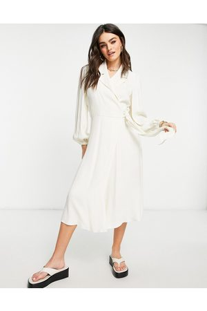 Ghost Tansy long sleeve dress in ivory