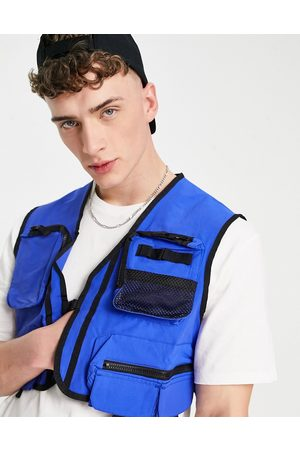 ASOS Cropped vest in cobalt blue - part of a set-Blues
