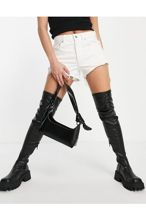 ASOS Kassidy chunky square toe over the knee boots in
