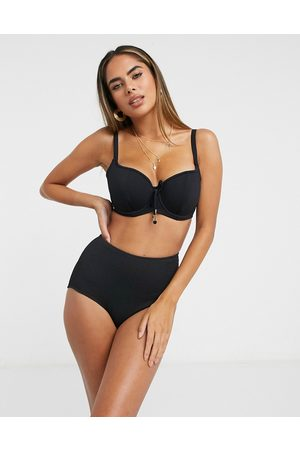 Pour Moi Fuller Bust Sol Beach sweetheart underwired bikini top in rib