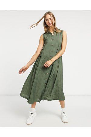 Y.A.S . Lea button down midi dress in