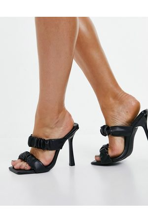 SIMMI Shoes Simmi London Quinn ruched heeled mules in