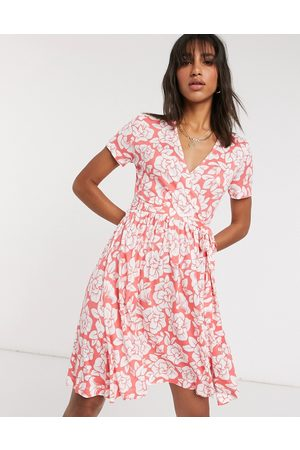 French Connection Floral Meadow jersey wrap dress in