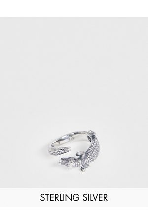 ASOS Sterling ring with crocodile design in