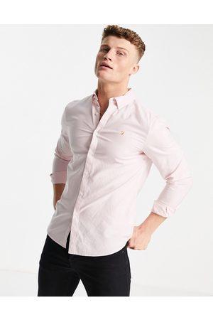 Farah Brewer slim fit organic cotton oxford shirt in