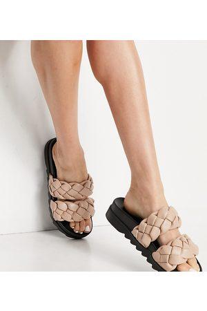 Raid Wide Fit Flinch chunky braided sandals in -Neutral