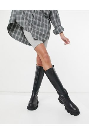 Public Desire Genius knee high chunky boots in