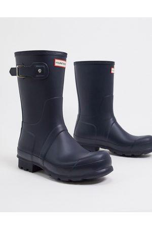 Hunter Original short rain boots in blue-Blues