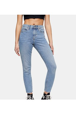 Topshop Jamie bleach ripped pocket jeans-Blues